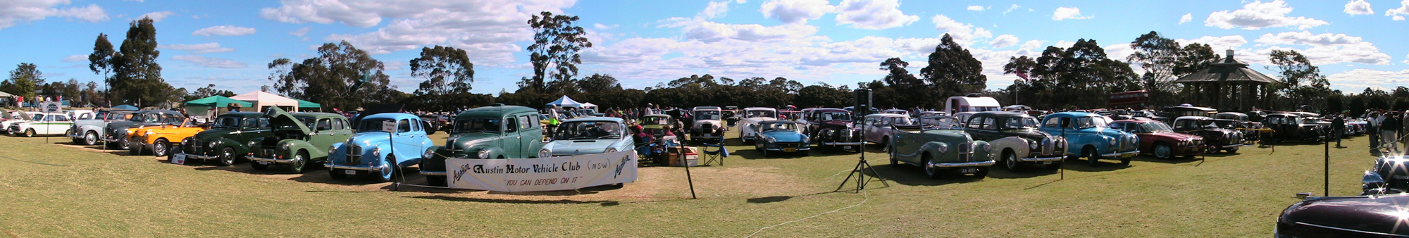 Austin Motor Vehicle Club NSW display at the all British Day held at Kings School